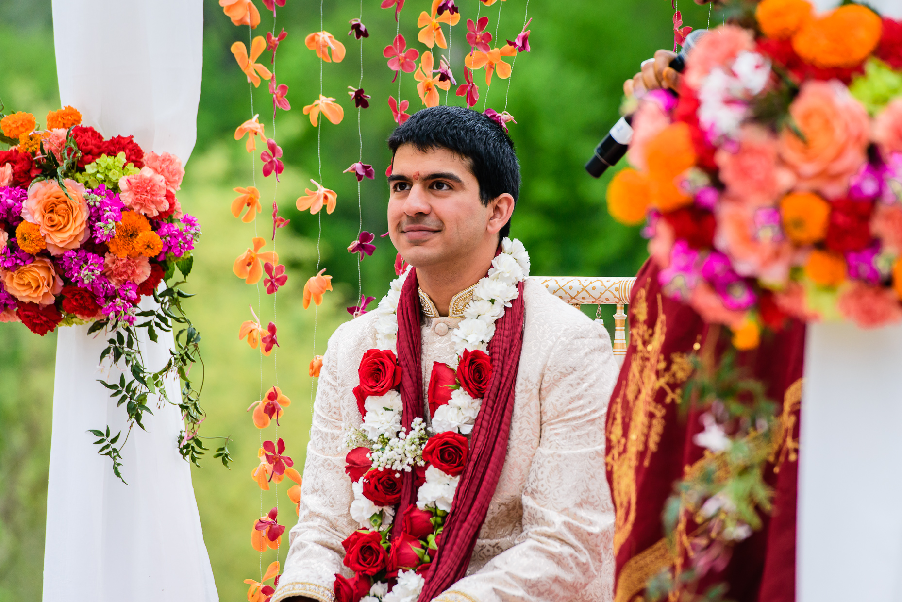 Austin-Wedding-Photographer-Lost-Pines-Hyatt-groom-ceremony-indian