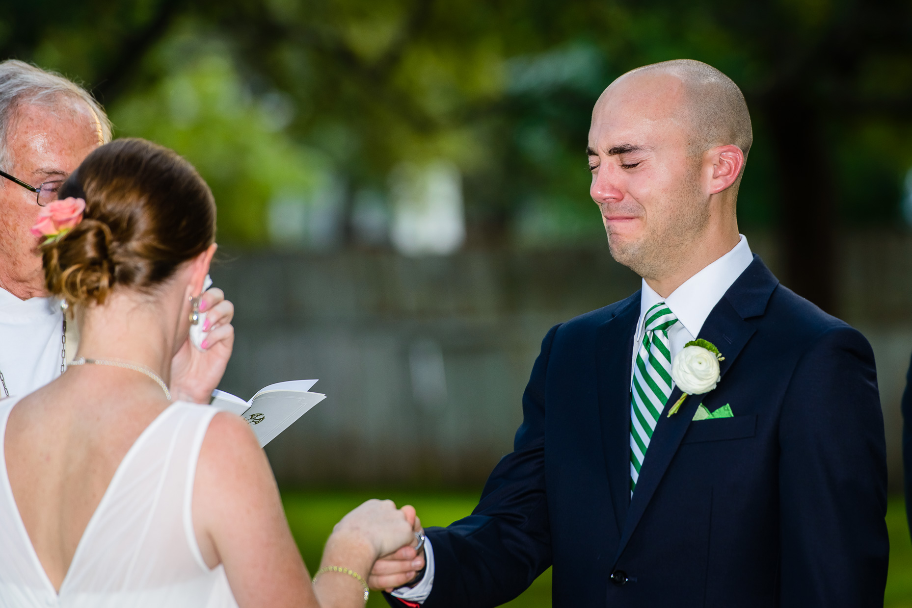 Austin-Wedding-Photographer-crying-groom-Green-Pastures-tx