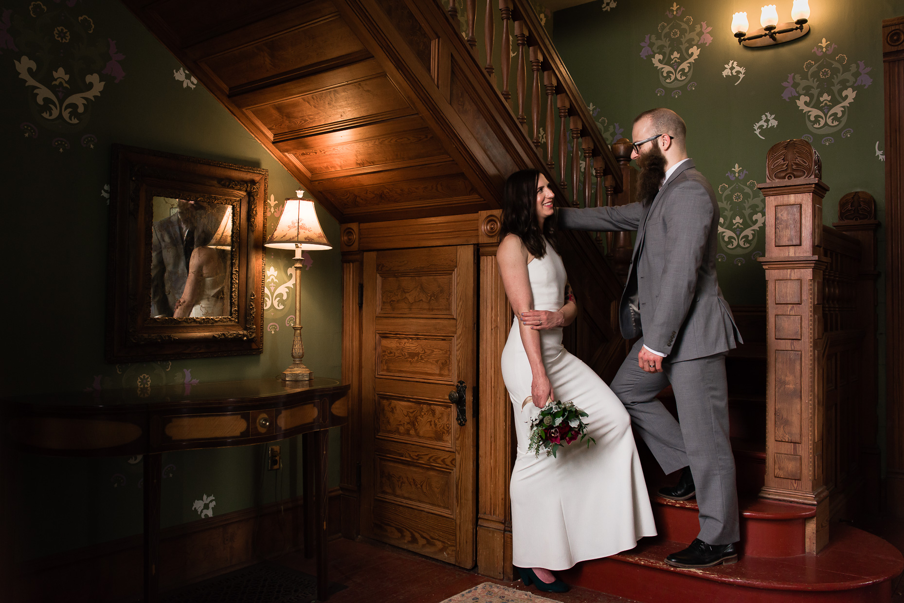 austin-wedding-photographers-barr-mansion-staircase-wooden