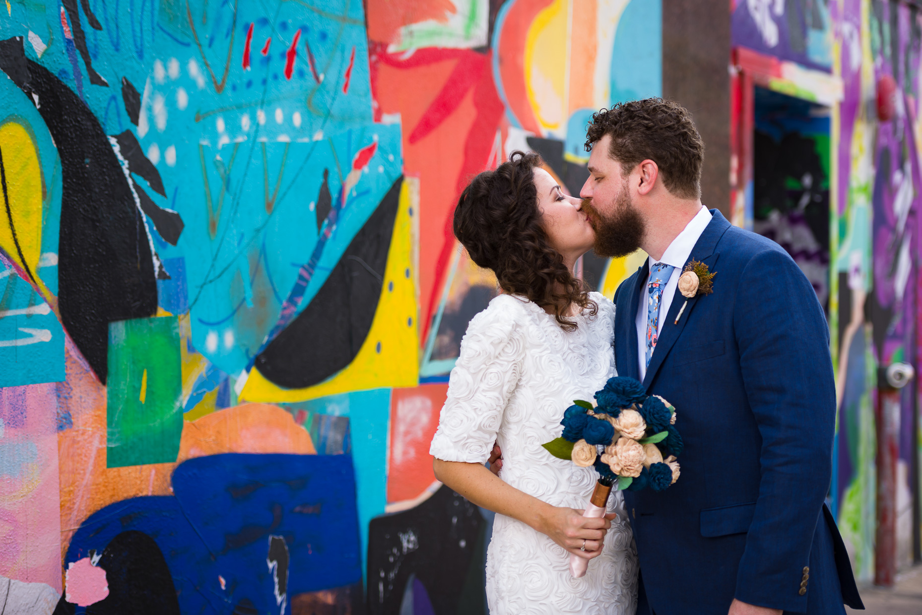 Austin-Wedding-Photographers-Downtown-mural-art-colorful-portrait