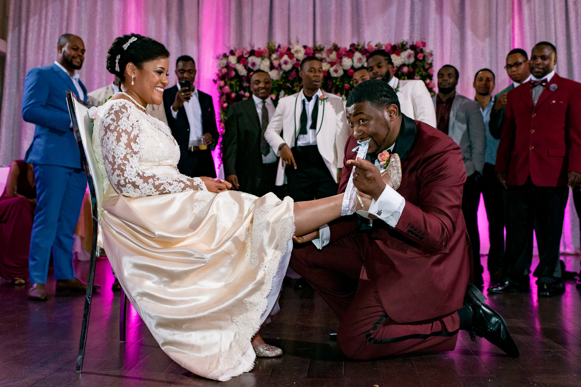 Austin-Wedding-Photographers-sterling-events-african-american-black-bride-garter-toss