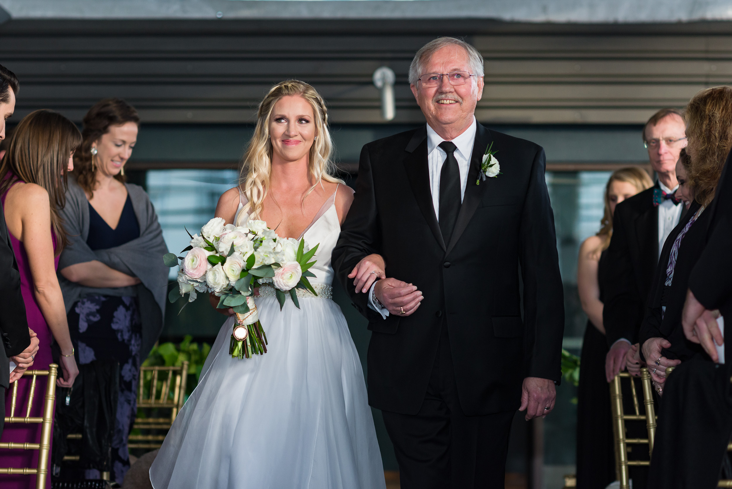 Austin-wedding-photographers-brazos-hall-downtown-bride-tears-father-aisle