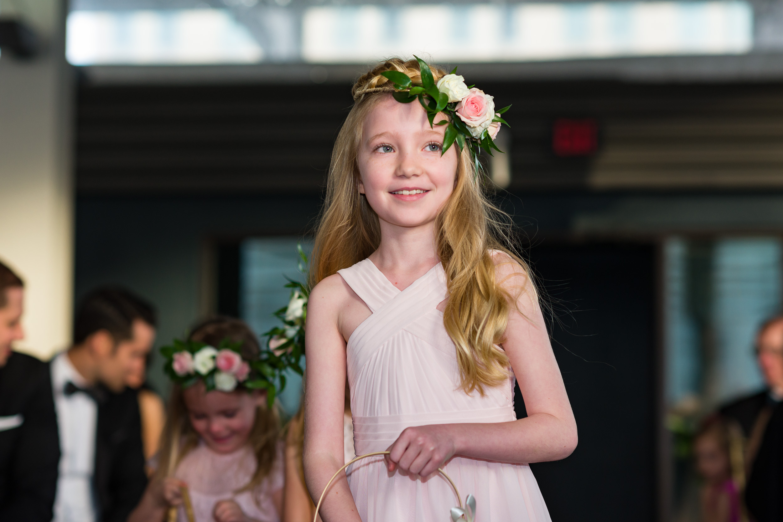 Austin-wedding-photographers-brazos-hall-downtown-flower-girl-wreath-headband-roses