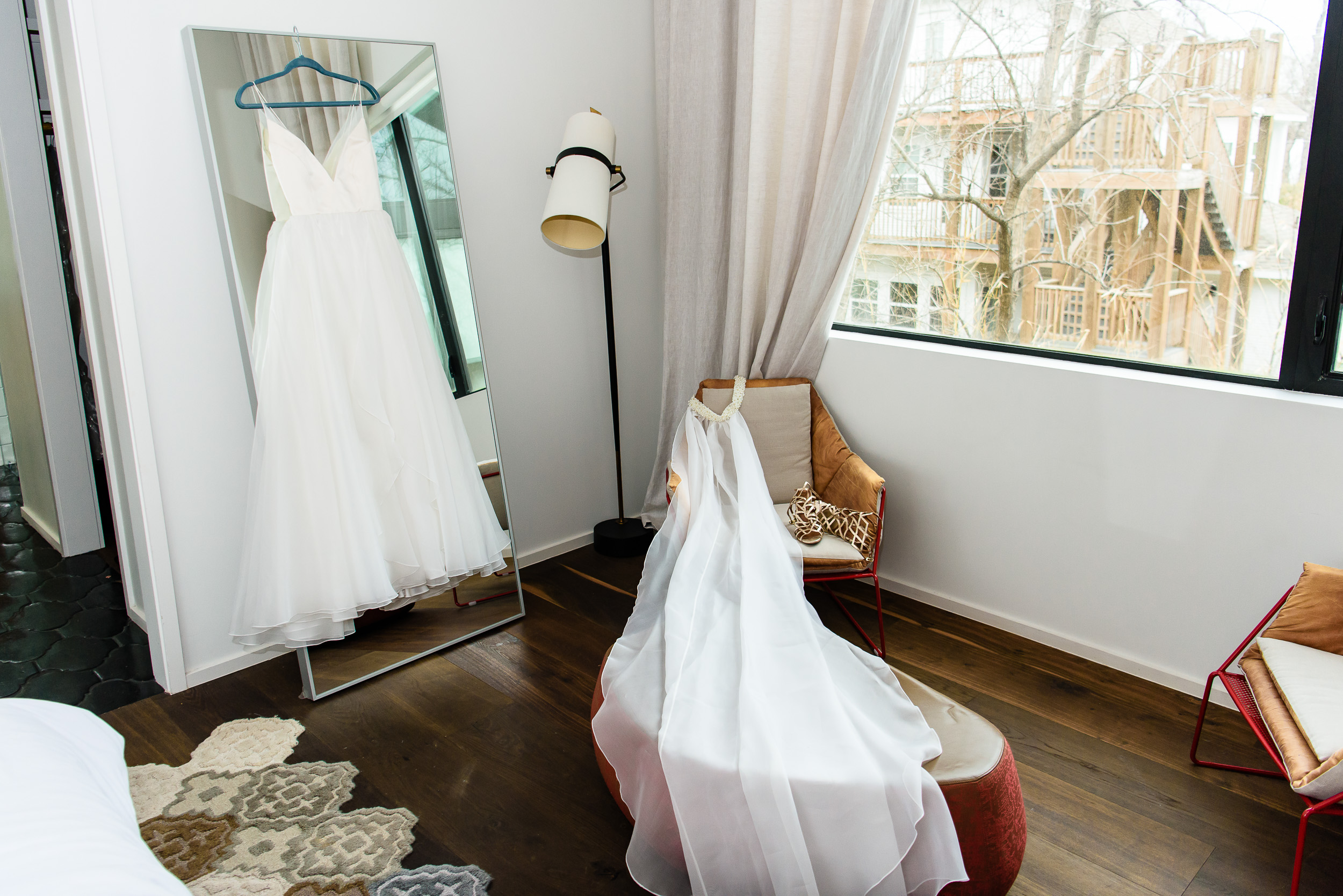 Austin-wedding-photographers-getting-ready-wedding-dress-veil-shoes