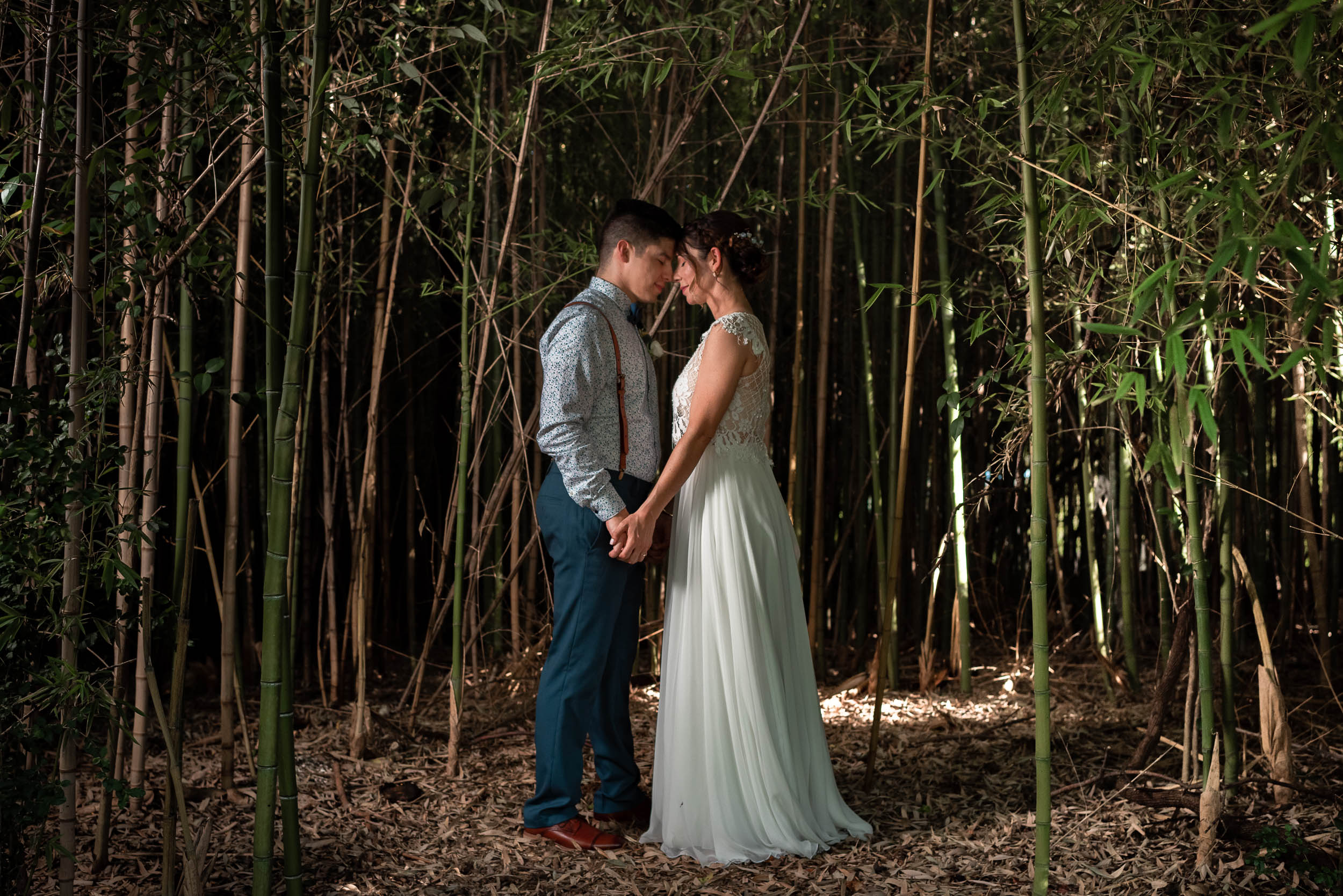 Mercury-Hall-Austin-Wedding-Photographers-portrait-bamboo-outdoor-summer-groom-bride